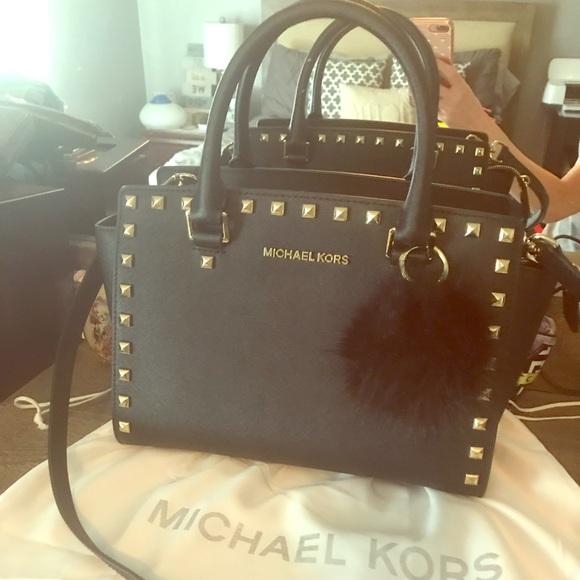 92375d85107e Micheal Kors Medium selma stud top zip satchel. M 5ae219f085e605617288746c.  Other Bags ...